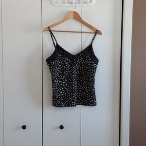 Sanctuary leopard print army green lace cami